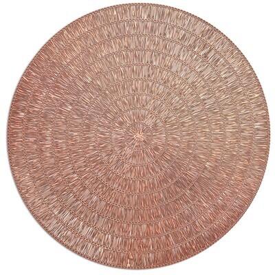 Splendor Design - Matt Rose Gold - Round Placemat