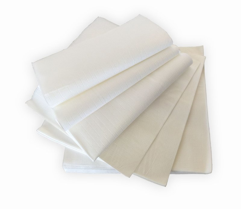 Napkin 3 PLY - White Textured Paper  -1 PIECE SAMPLE -