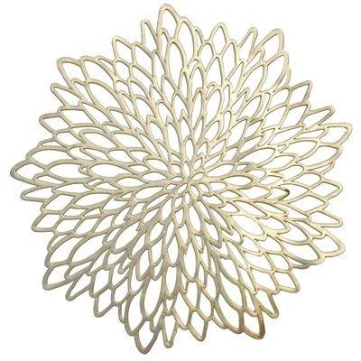 Leaf Design - Gold - Pressed Vinyl Placemat