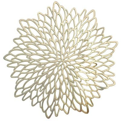 Gold - Leaf Round Placemat  -1 PIECE SAMPLE -