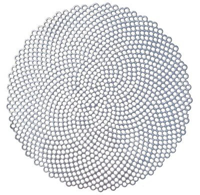 Mosaic Design- Silver - Round Pressed Vinyl Placemat