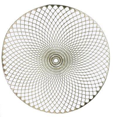 Eclipse Design - Gold - Round Pressed Vinyl Placemat