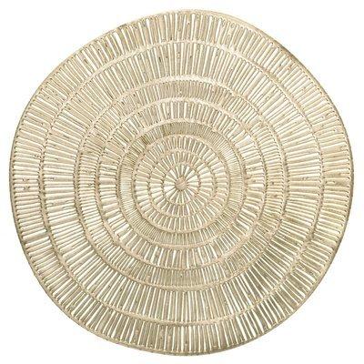 Cleo Design - Gold - Round Pressed Vinyl Placemat