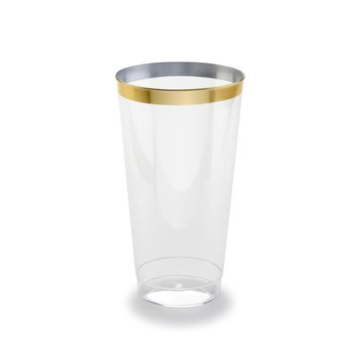 16 oz Heavy Duty Tumblers, Gold Rimmed - 1 PIECE SAMPLE -