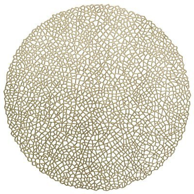 Gold - Mystique Round Placemat -1 PIECE SAMPLE -