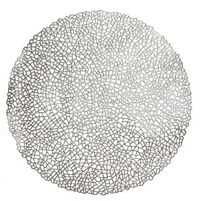 Silver - Mystique Round Placemat  -1 PIECE SAMPLE -