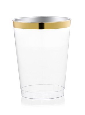 10 oz Heavy Duty Tumblers, Gold Rimmed, - 1 PIECE SAMPLE -