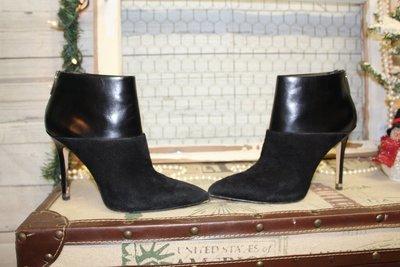 Michael Kors Black Suede Ankle Boots