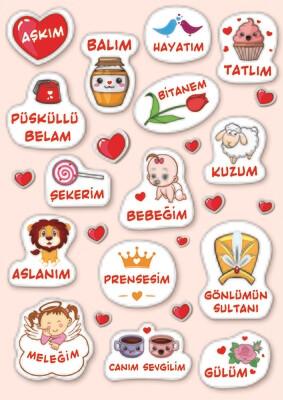 Наклейки Любовь-морковь Aşk meşk
