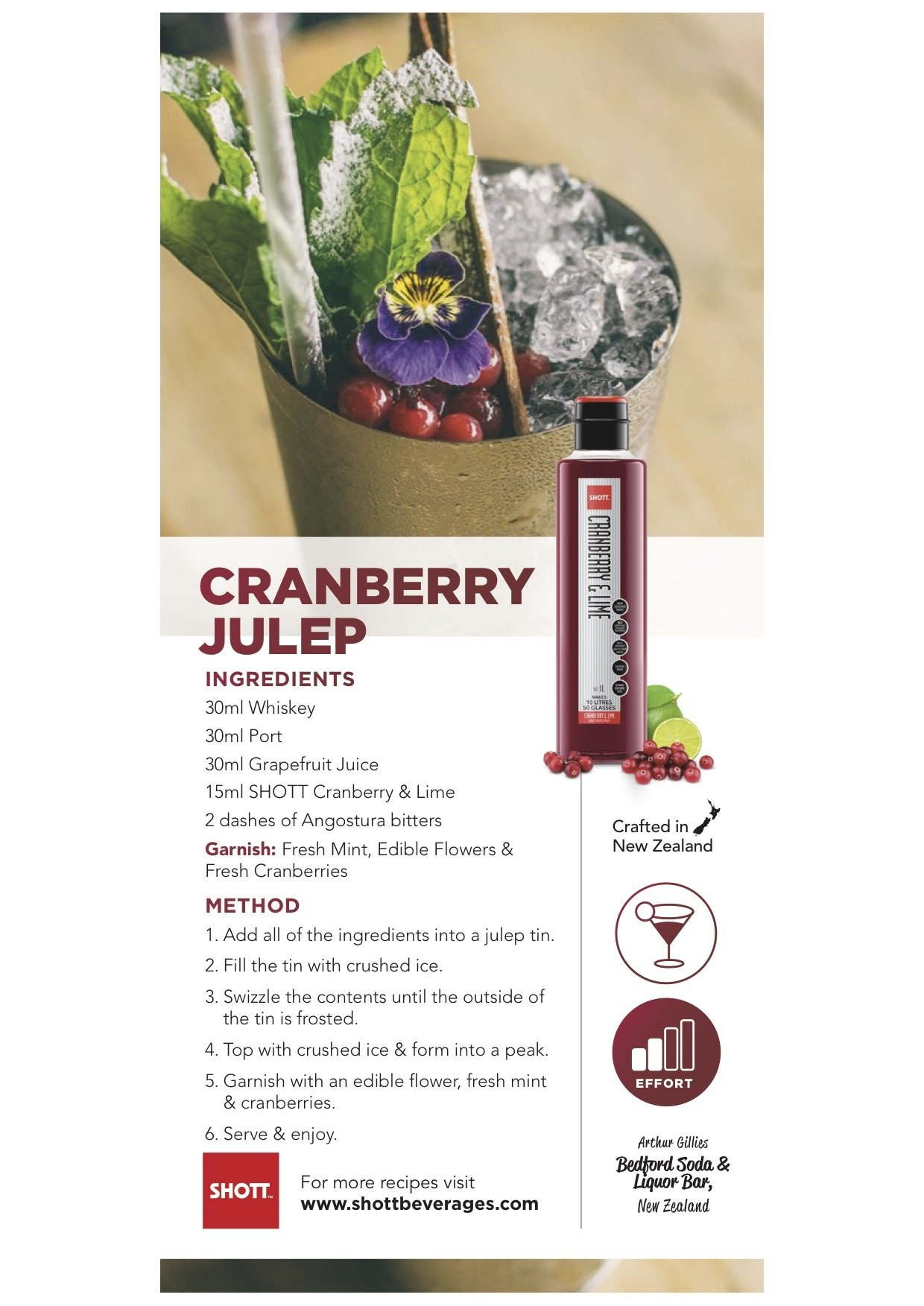 SHOTT Cranberry & Lime