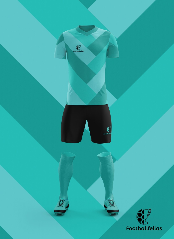 Arrows custom football jersey and shorts