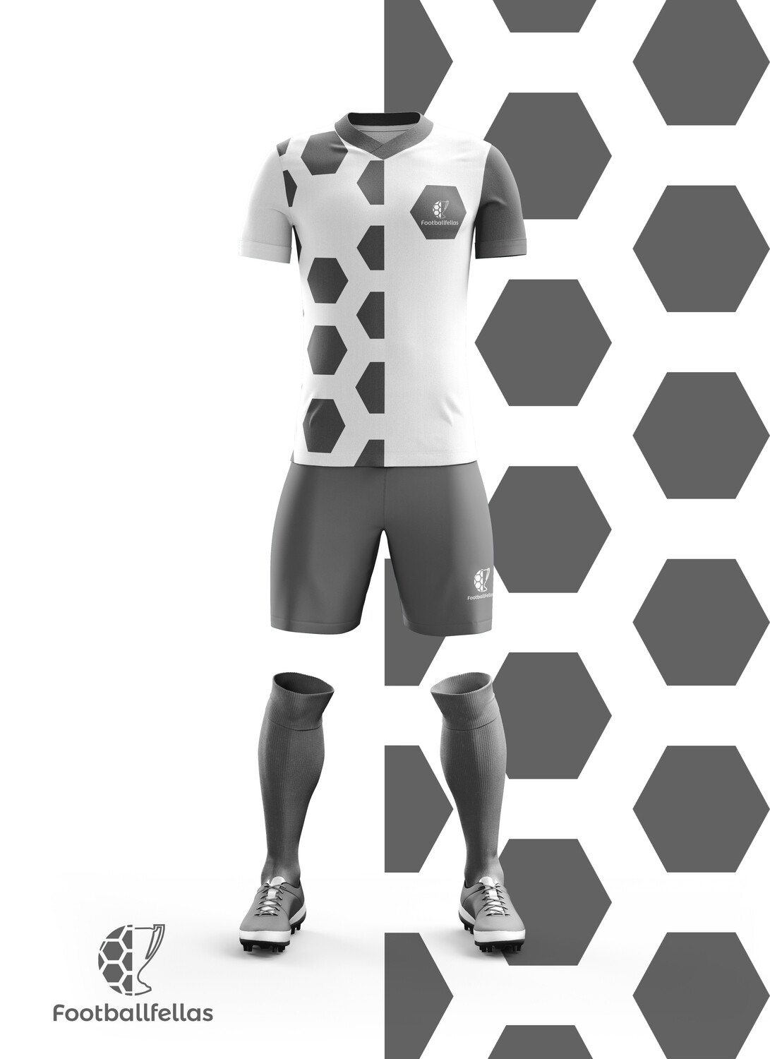 Two Face custom football kit with shorts