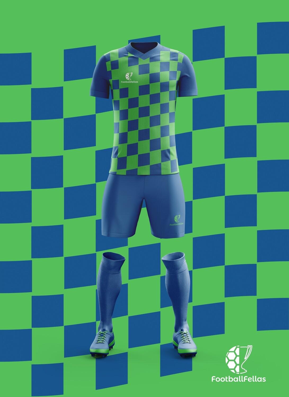 Wave custom football game jersey