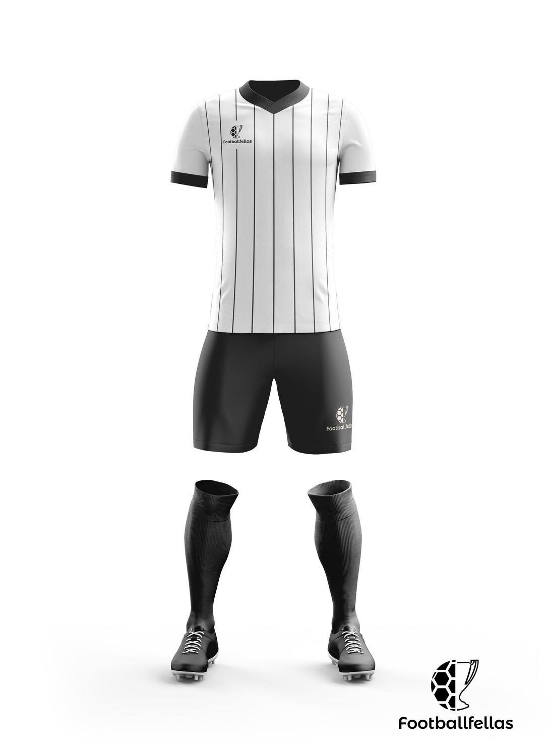 Classic stripes custom football jersey with shorts