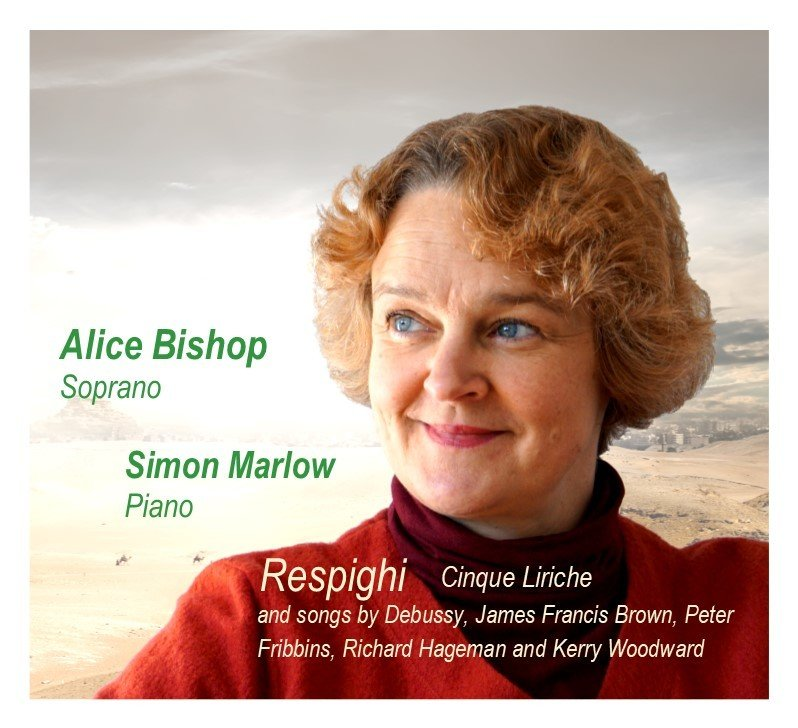 CD Respighi Cinque Liriche and songs by Debussy, James Francis Brown, Peter Fribbins, Richard Hageman and Kerry Woodward