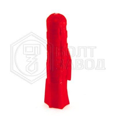 Дюбель полипропиленовый красный 10*50 100 штук