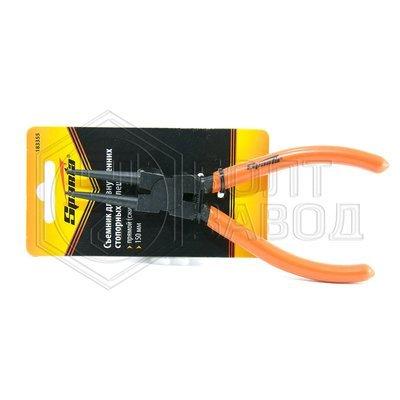 Съемник для внутренних стопорных колец прямые губки сжим 150 мм