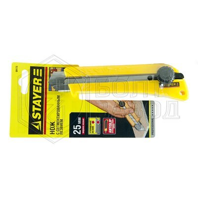 Нож STAYER PROFI с механическим фиксатором