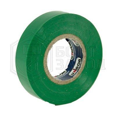 Электроизоляционная лента зеленая UNIBOB 15 мм х 20 м, 130 мкм