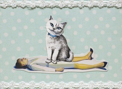 Cat Lady 5 x 7
