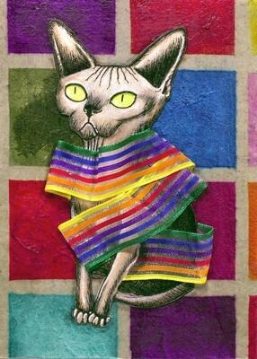 Cat Fashion #1 5x7