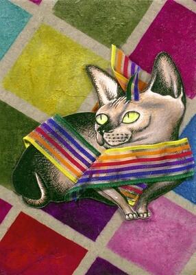 Cat Fashion #2 5x7