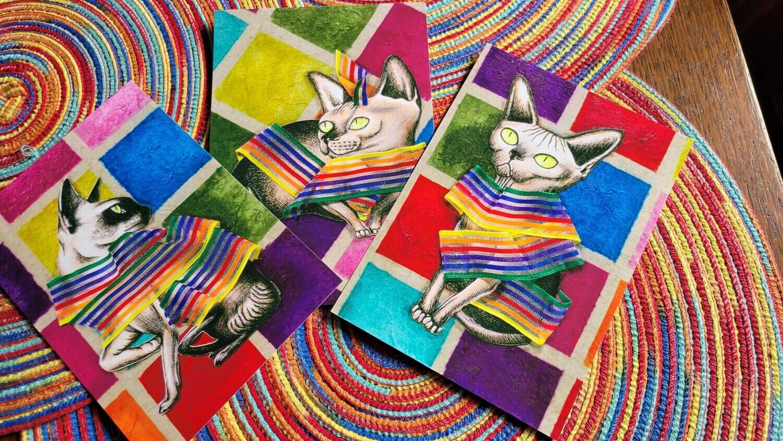 Cat Fashion Print Set