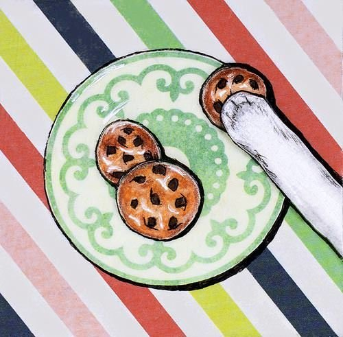 cookie paw 4 magnets