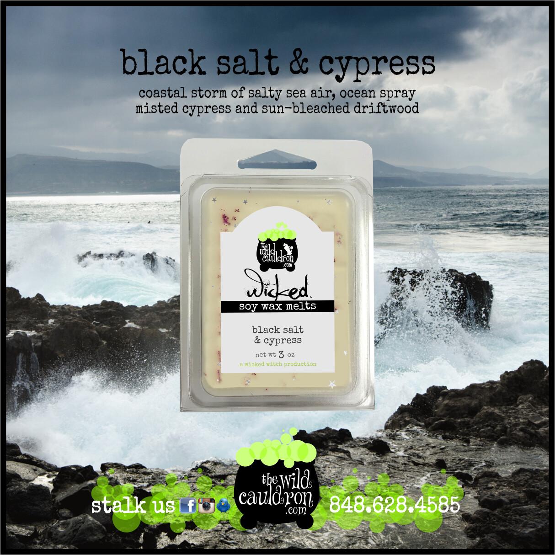 Black Salt and Cypress Wicked Wax Melts