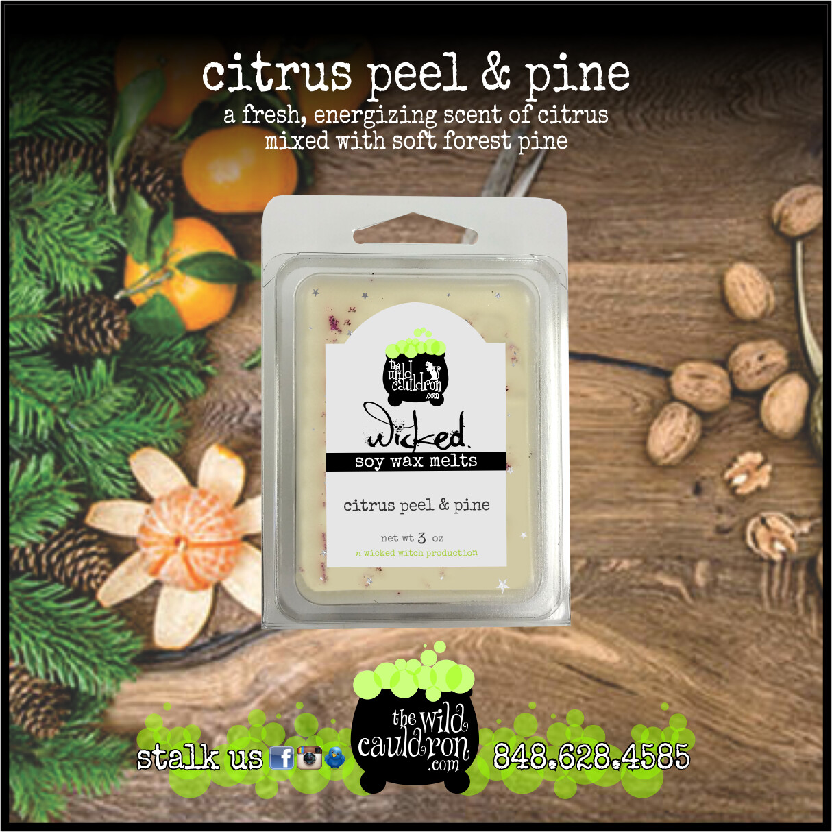 Citrus Peel and Pine Wicked Wax Melts