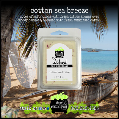 Cotton Sea Breeze Wicked Wax Melts