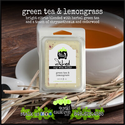 Green Tea and Lemongrass Wicked Wax Melts