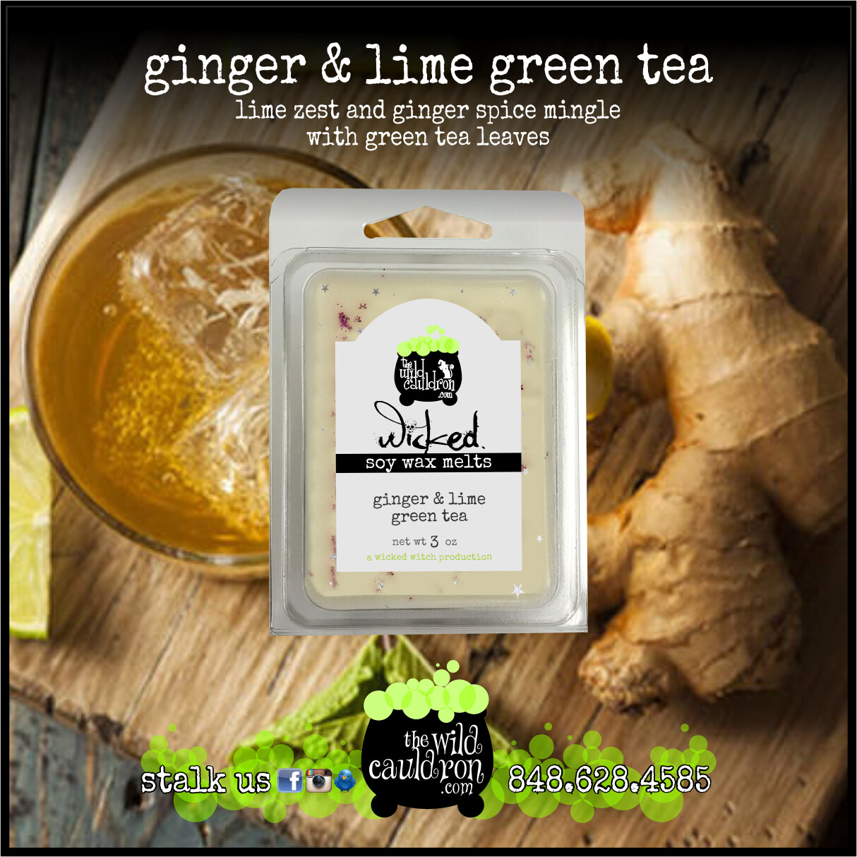 Ginger and Lime Green Tea Wicked Wax Melts