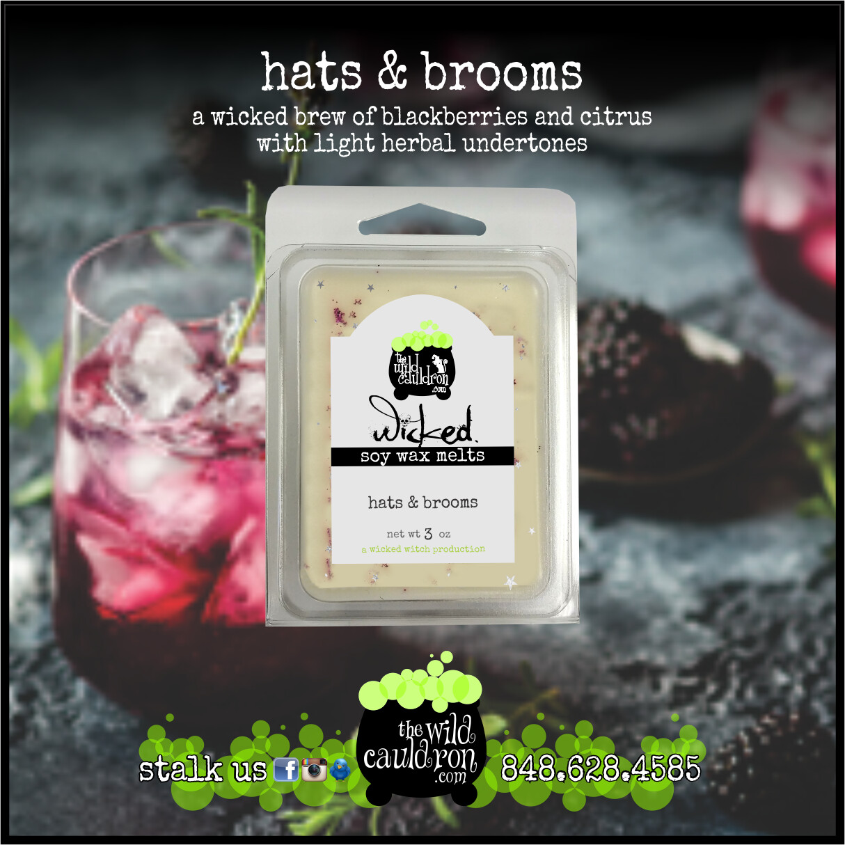 Hats and Brooms Wicked Wax Melts