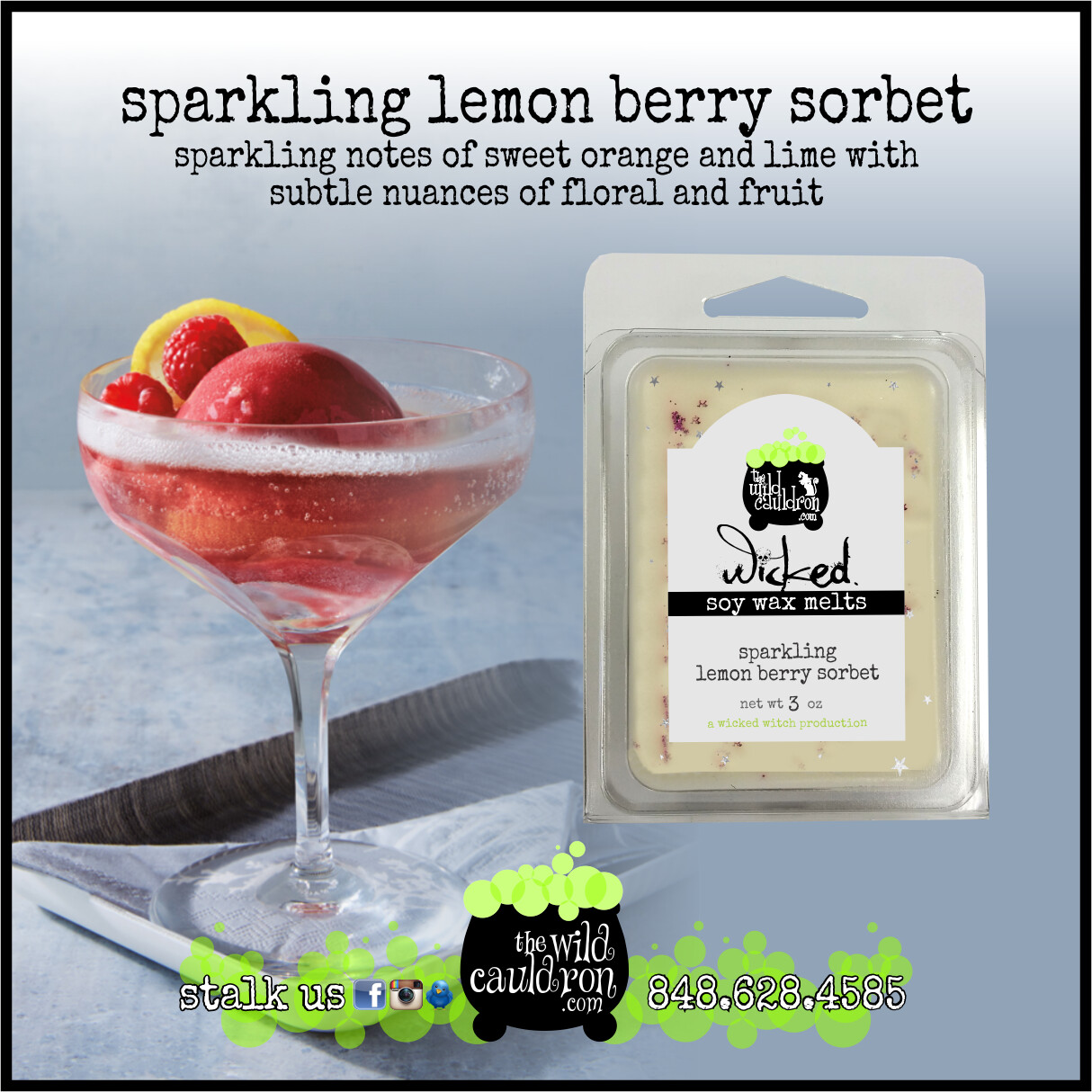 Sparkling Lemonberry Sorbet Wicked Wax Melts