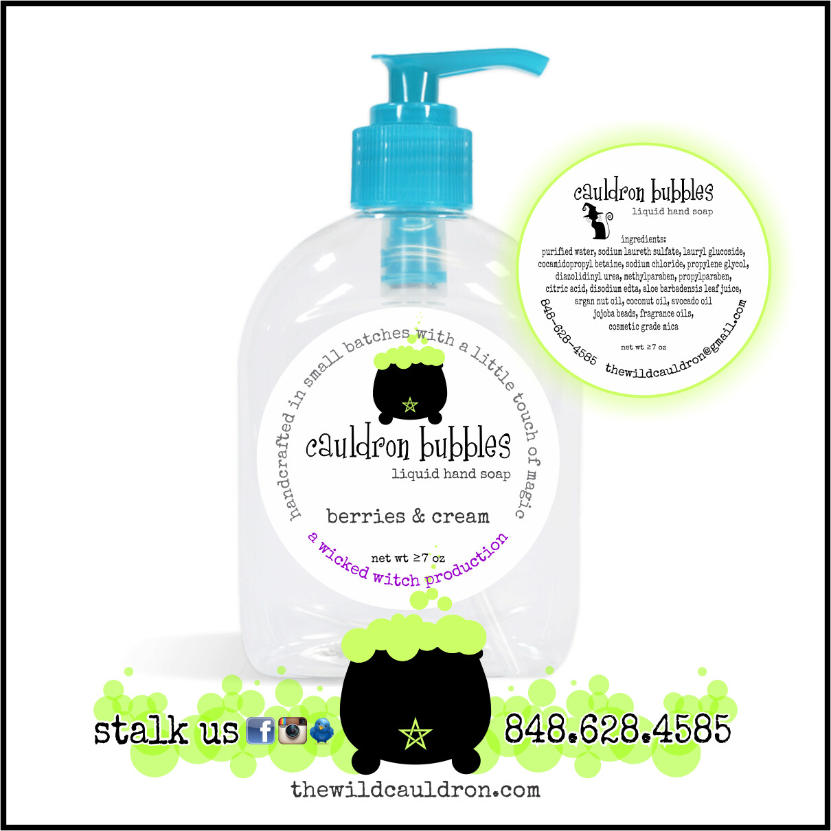 Berries and Cream Cauldron Bubbles Hand Soap
