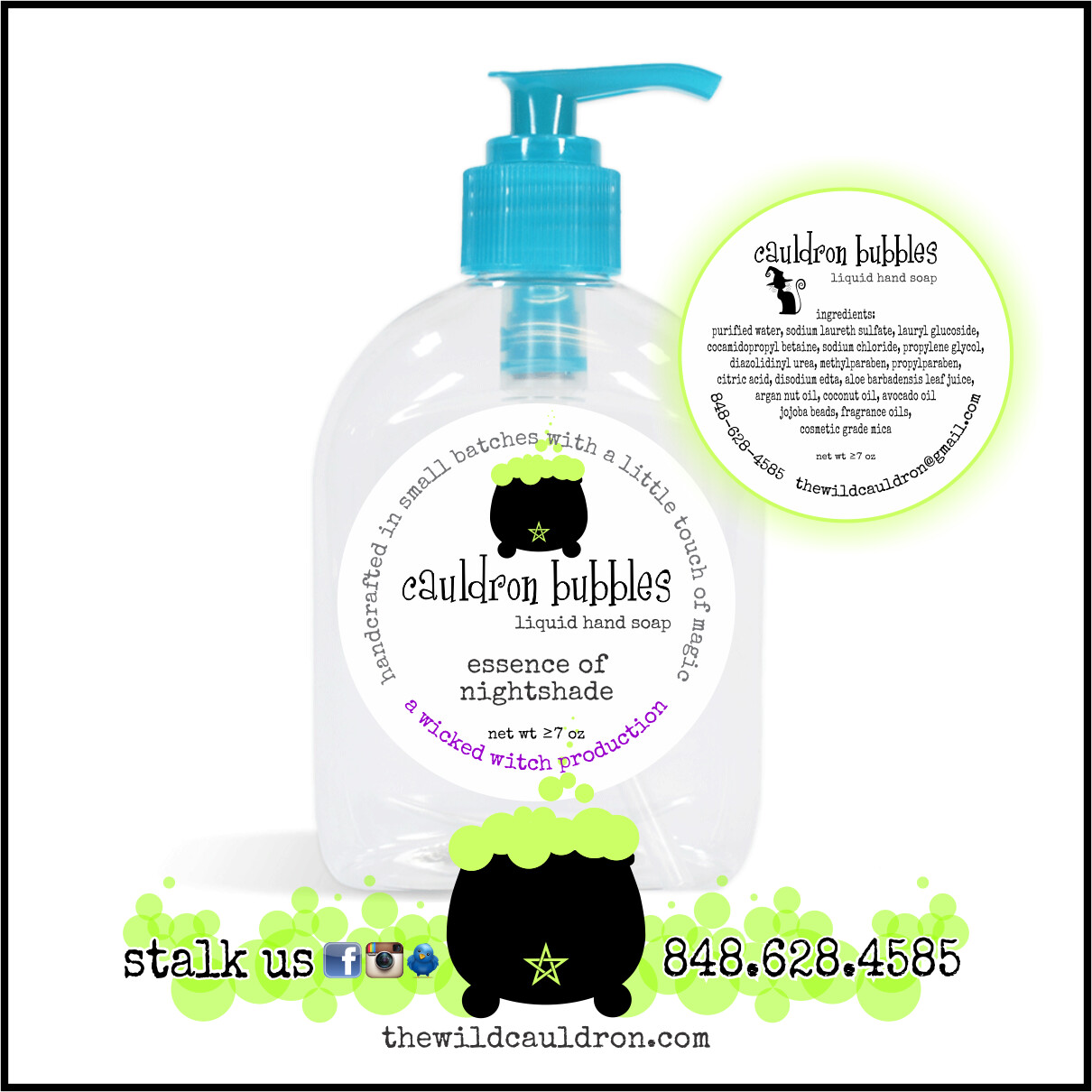 Essence of Nightshade Cauldron Bubbles Hand Soap