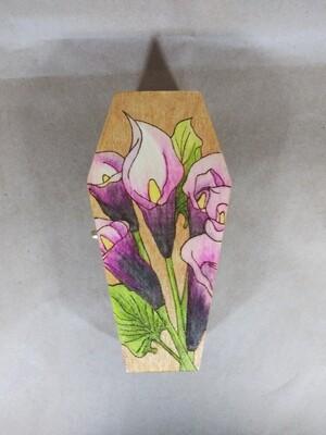 Calla Lilies Coffin