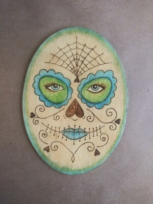 Sugar Skull Face (Blue/Green)