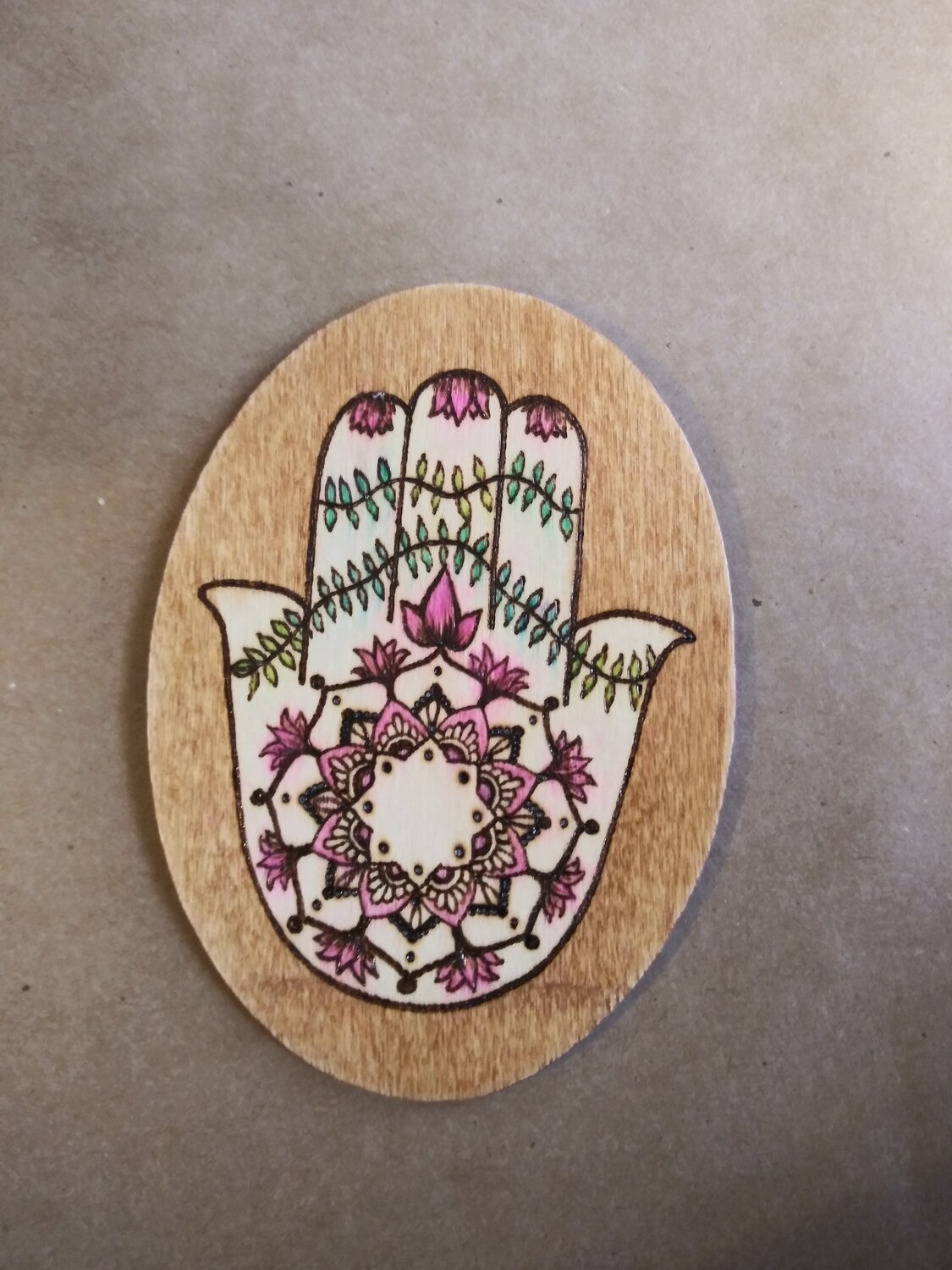Hamsa with Pink Flowers
