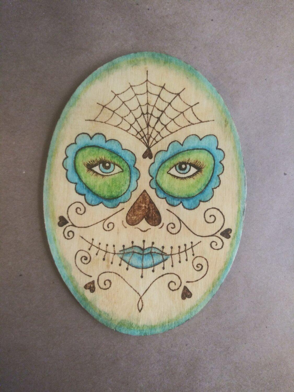 Sugar Skull Face (Blue/Green)