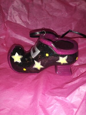 All About The Shoes Ornament - Red-Violet Star