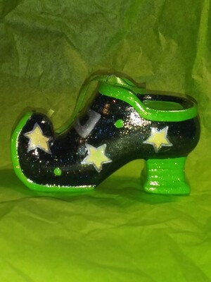 All About The Shoes Ornament - Green Star