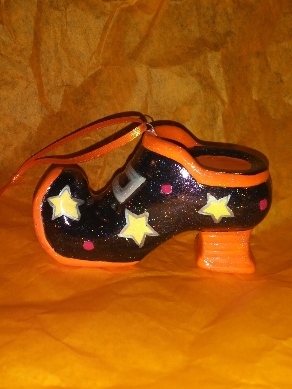 All About The Shoes Ornament - Orange Star