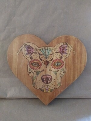 Pittie Sugar Skull