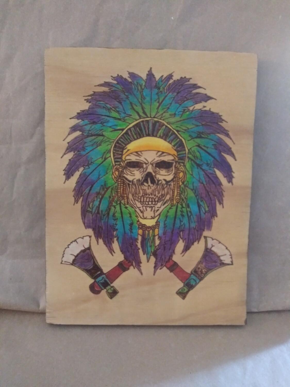 Skull with Headress