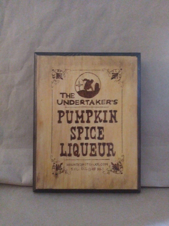 Pumpkin Spice Liqueur Sign