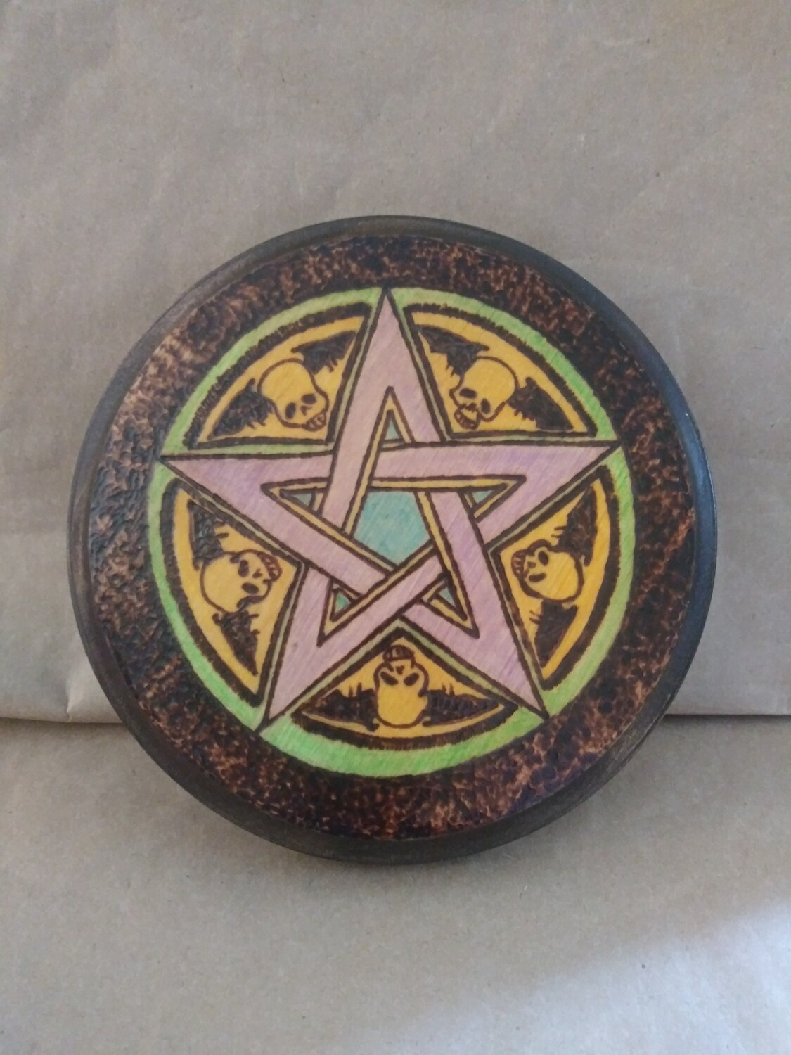 Pentacle with Skulls