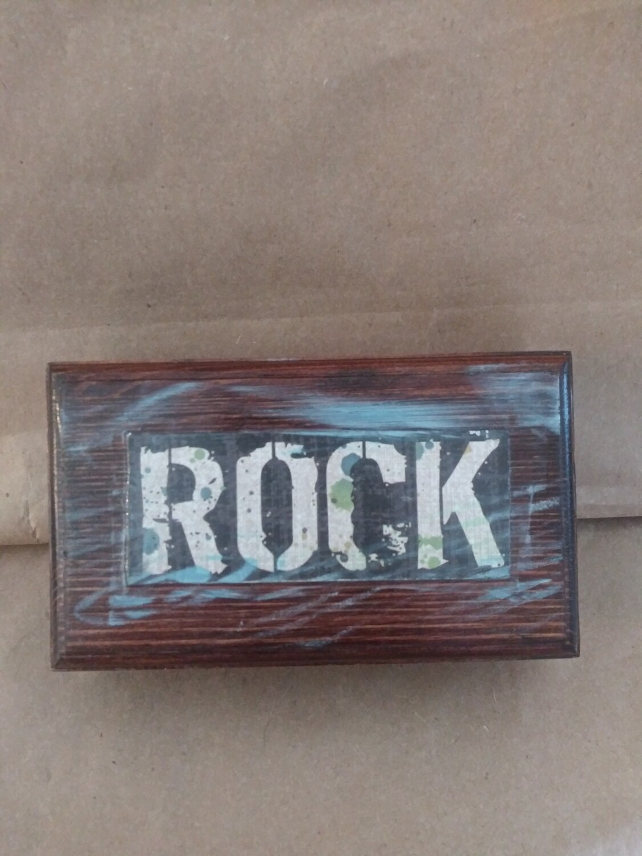 Rock Business Card Box