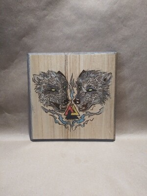 Norse Double Wolf Head
